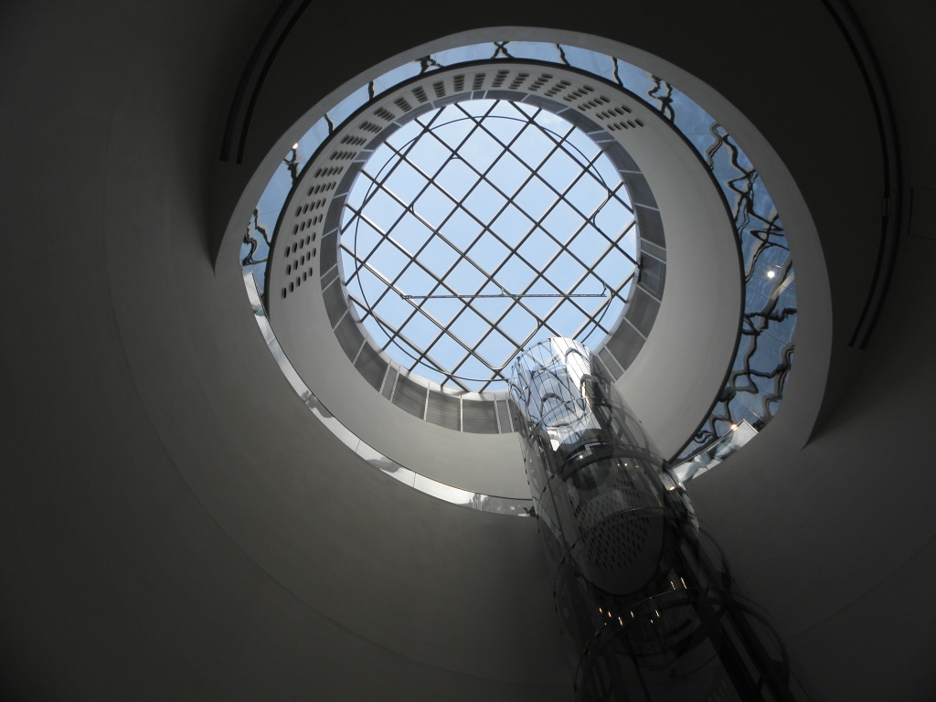 Is this Willy Wonkas Great Glass Elevator? Central atrium and glass lift to the Shakespeare Room