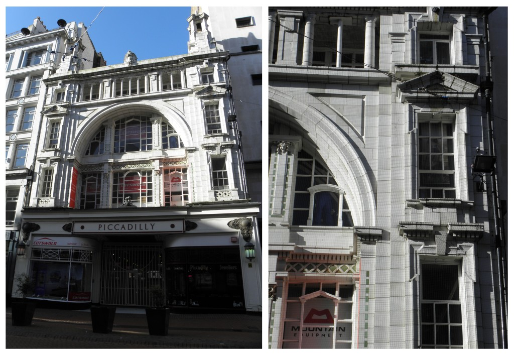 White glazed terracotta: Piccadilly Arcade